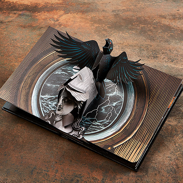 Libro Pop Up El Cuervo de Edgar Allan Poe