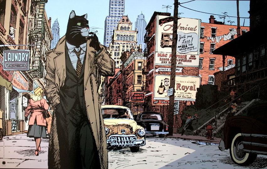 Comic Blacksad de Juan Díaz Canales y Juanjo Guarnido