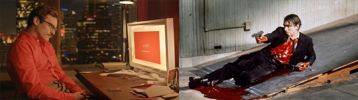 Utilización del rojo en películas como Her y Reservoir Dogs