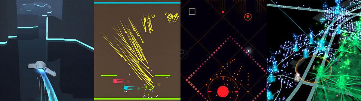 Arte en juegos como Horizon, Flat Heroes e Ingress.
