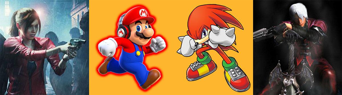Rojo en la creación de personajes como Mario, Claire Redfielf, Knuckles y Dante.
