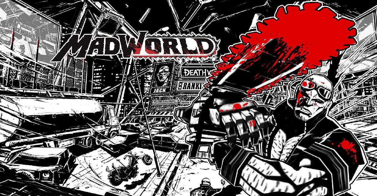 Ejemplo de blanco y negro en el videojuego Mad World