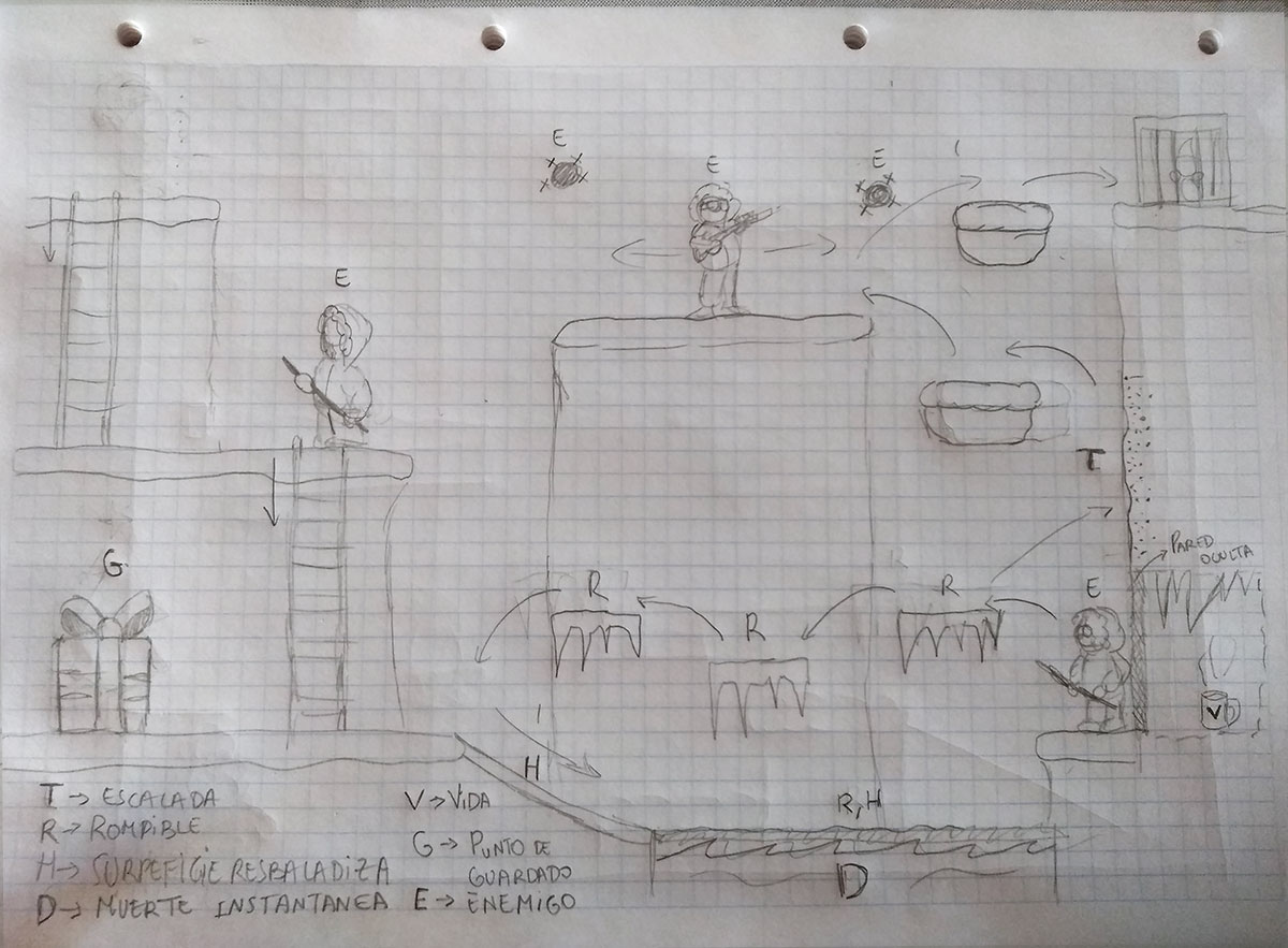 Diseño para el concurso de Level Design de Guadalupe Hermoso