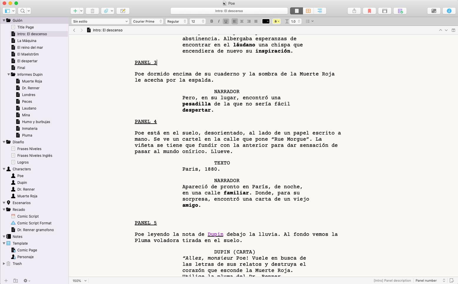 Cómo escribir un guion de videojuego con Scrivener