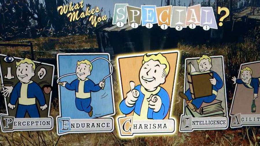 Representación del sistema de características de Fallout