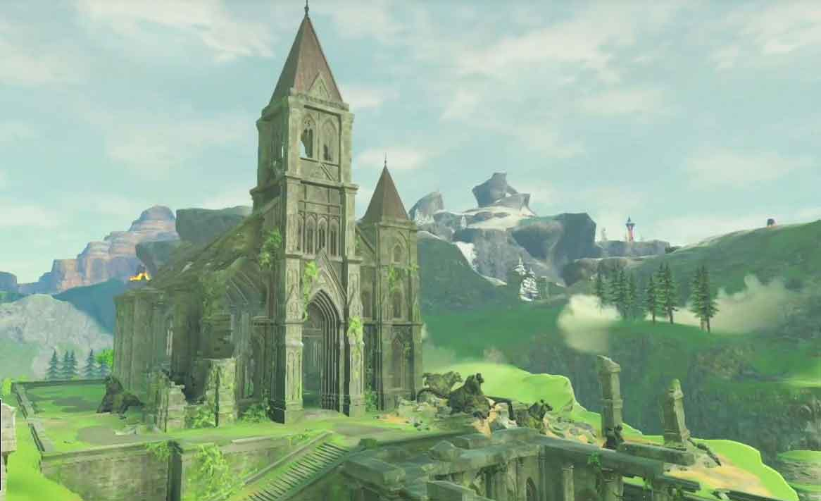 El Templo del Tiempo en The Legend of Zelda: Breath of the Wild.