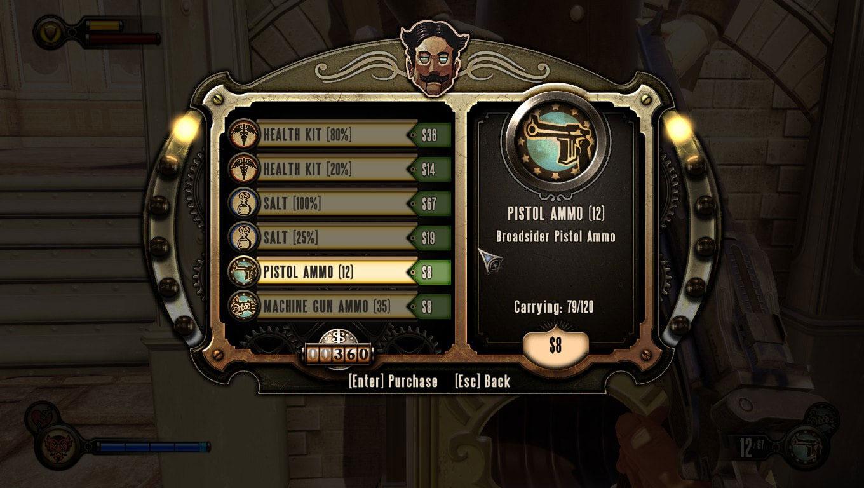 Bioshock Infinite hace un uso perfecto de la tipografía en el diseño UI
