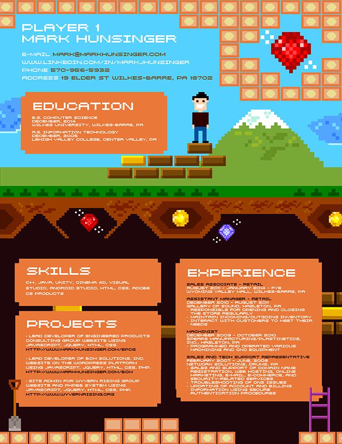Currículum videojuegos