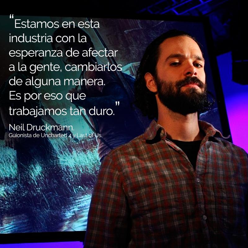 Frase de inspiración de Neil Druckmann para crear videojuegos